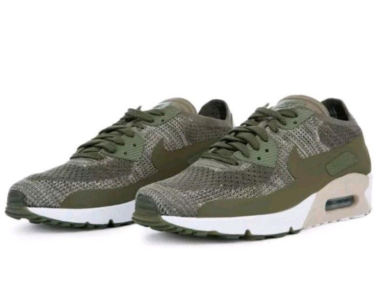 check out f94fa 4b809 Nike Air Max 90 Ultra 2.0 Flyknit Olive Green Mens Shoes ...