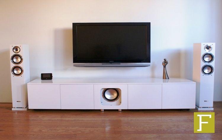 Tv meubel penguin tv audio meubel kast dressoir hoogglans wit ir