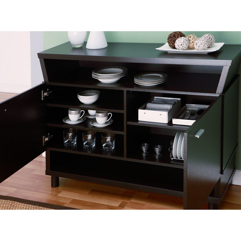 Furniture Of America Modern Avant Garde 2 Cabinet Dining Buffet Server By