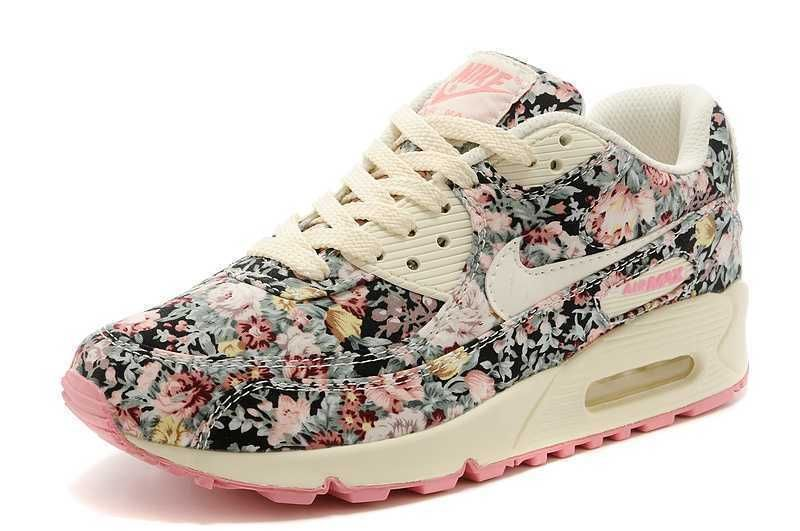 755e28815a7a Nike Air Max 90 Floral Height Increasing Shoes Women size shoes Women Rose   Nike  RunningCrossTraining