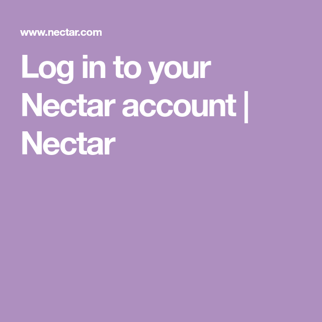 Log In To Your Nectar Account Nectar Accounting