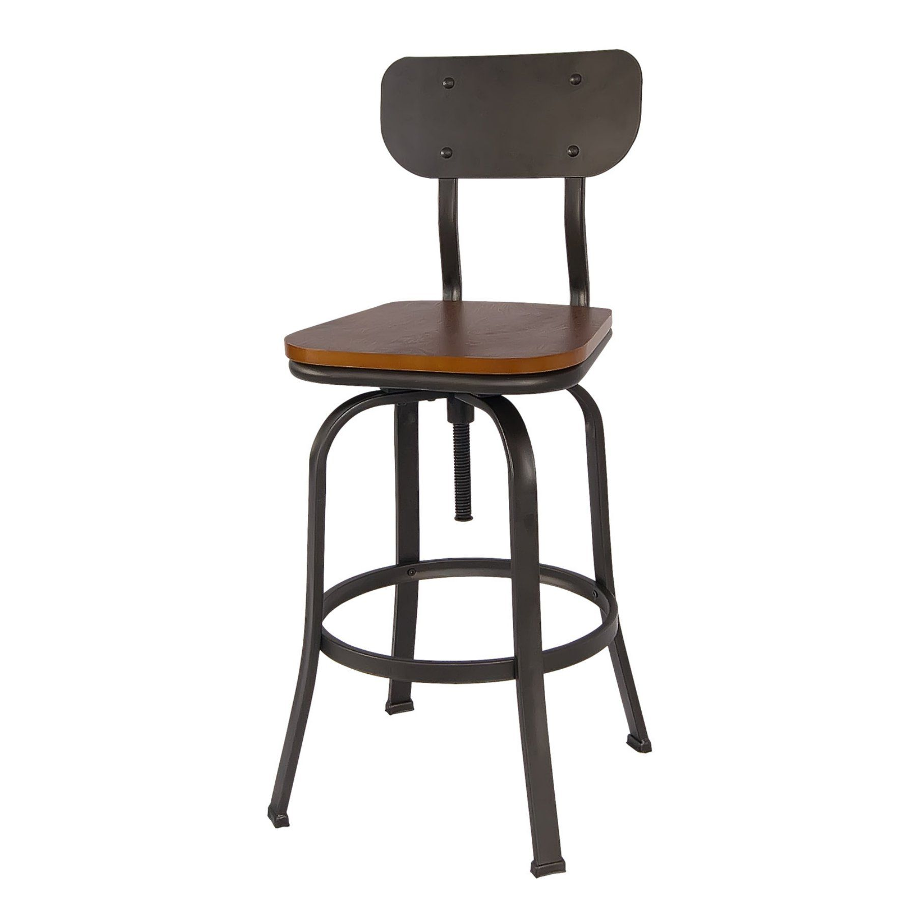 Russ160 Antique Bronze Swivel Bar Stool  Set Of 2
