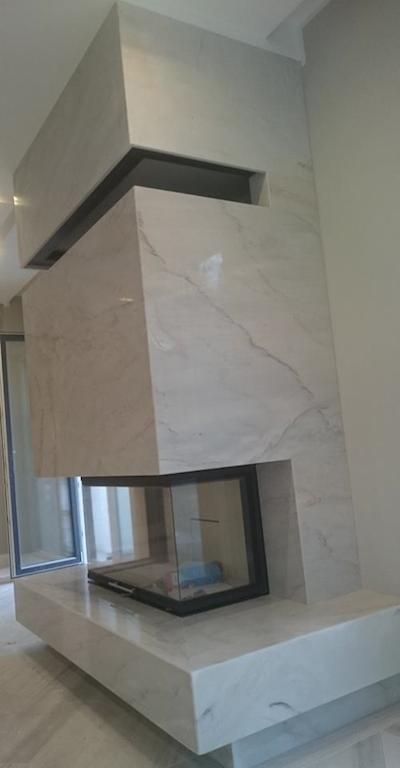 Kaminverkleidung aus Palissandro - Marmor Ponzo GmbH - Natursteine ...