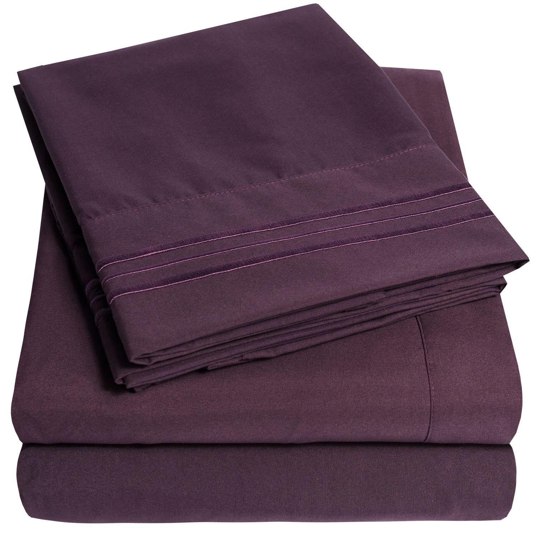 Plum colored cotton sheets | New•Bedroom | Pinterest | Plum colour ...