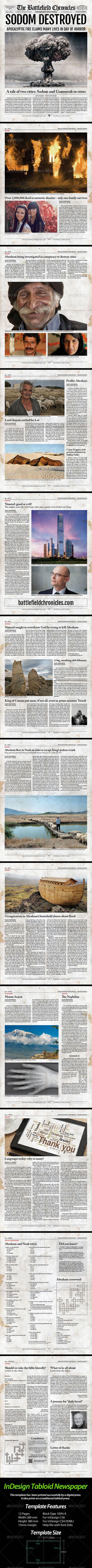 Tabloid Newspaper Template For Indesign Pinterest Newsletter