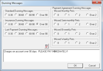 Dunning Messages  Billing  Accounts Receivable
