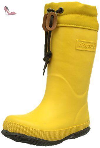 Bisgaard 92002999, Bottes de pluie mixte enfant Jaune (80