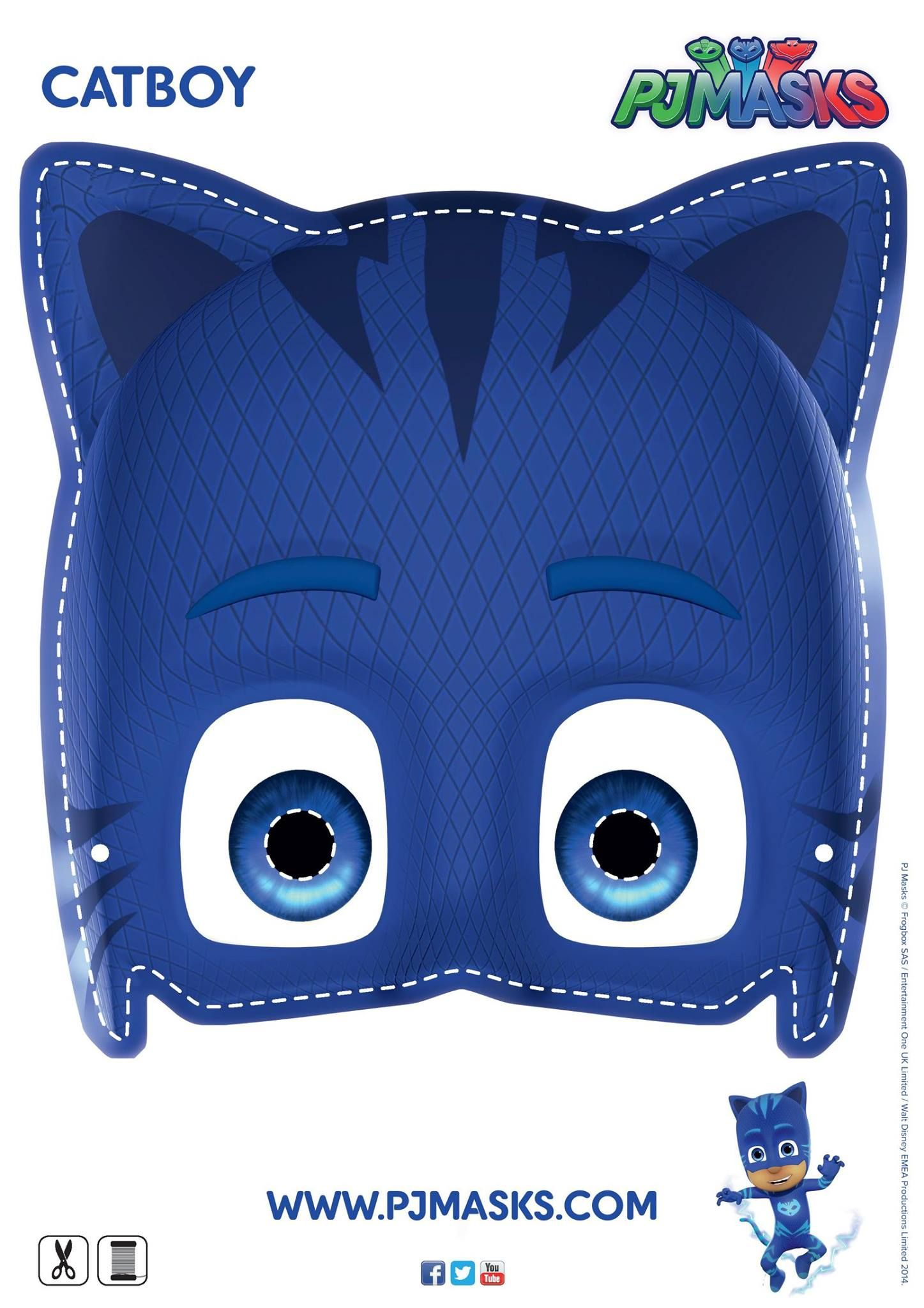 Make your own Catboy mask pjmasks activitysheet