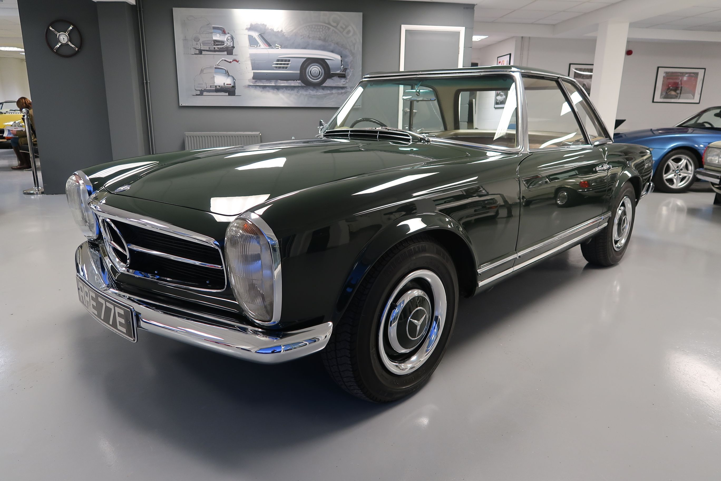 1967 Mercedes SL 250 Pagoda RHD full service history for sale at Woldside Classic and Sports Car in Louth, Lincolnshire.