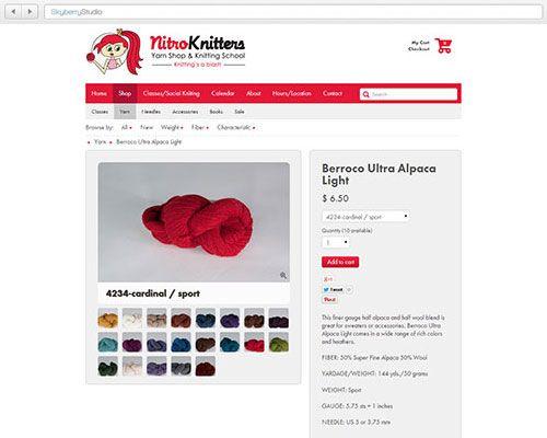 Skyberry Studio™ Portfolio : Nitro Knitters ( @Nitro Knitters ) E-Commerce Website Design & Development