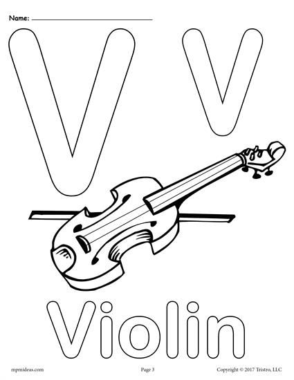 Letter V Alphabet Coloring Pages 3 Printable Versions Alphabet