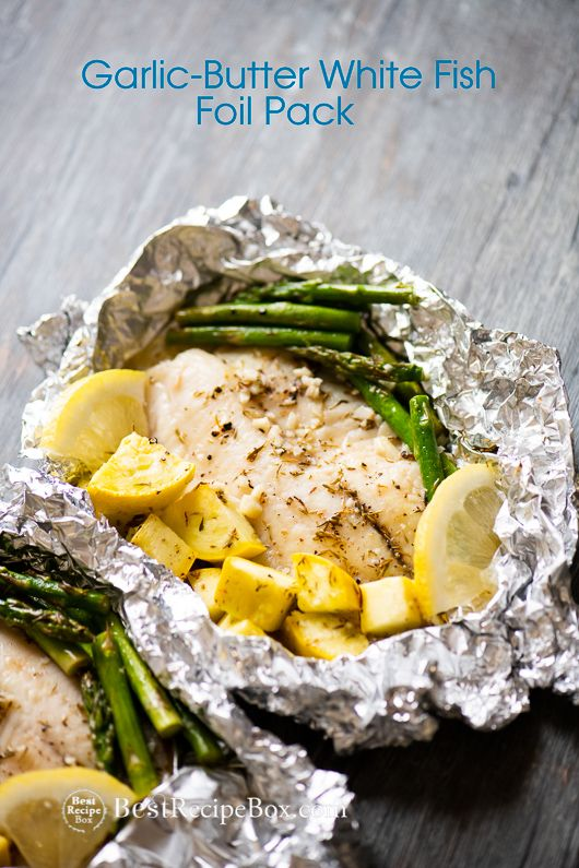 15 minute Foil Baked Garlic Butter White Fish (Tilapia) images