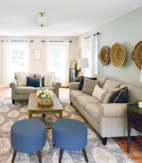 Homestead Project Transitional Living Room Neutrals Gray Beige And White With Black And Beige Couch Living Room Brown Living Room Decor Living Room Beige