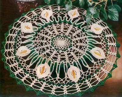 Best Free Crochet » Calla Lily Doily   crochet faves   Pinterest