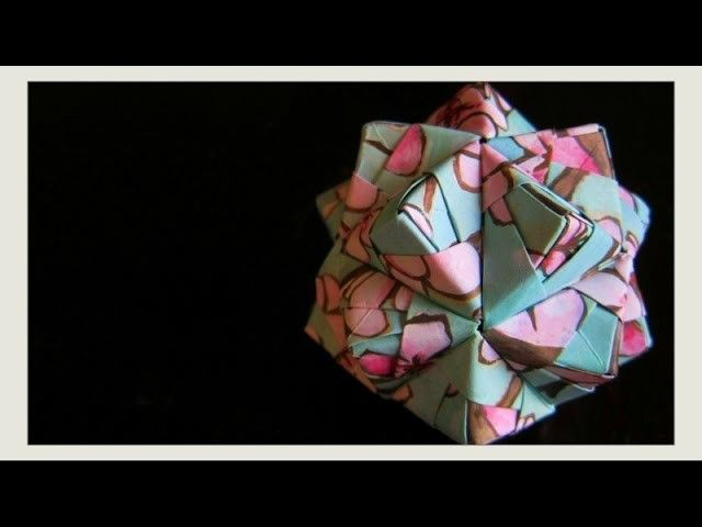DIY - Origami Ball - New Year's Decoration Ornament ...