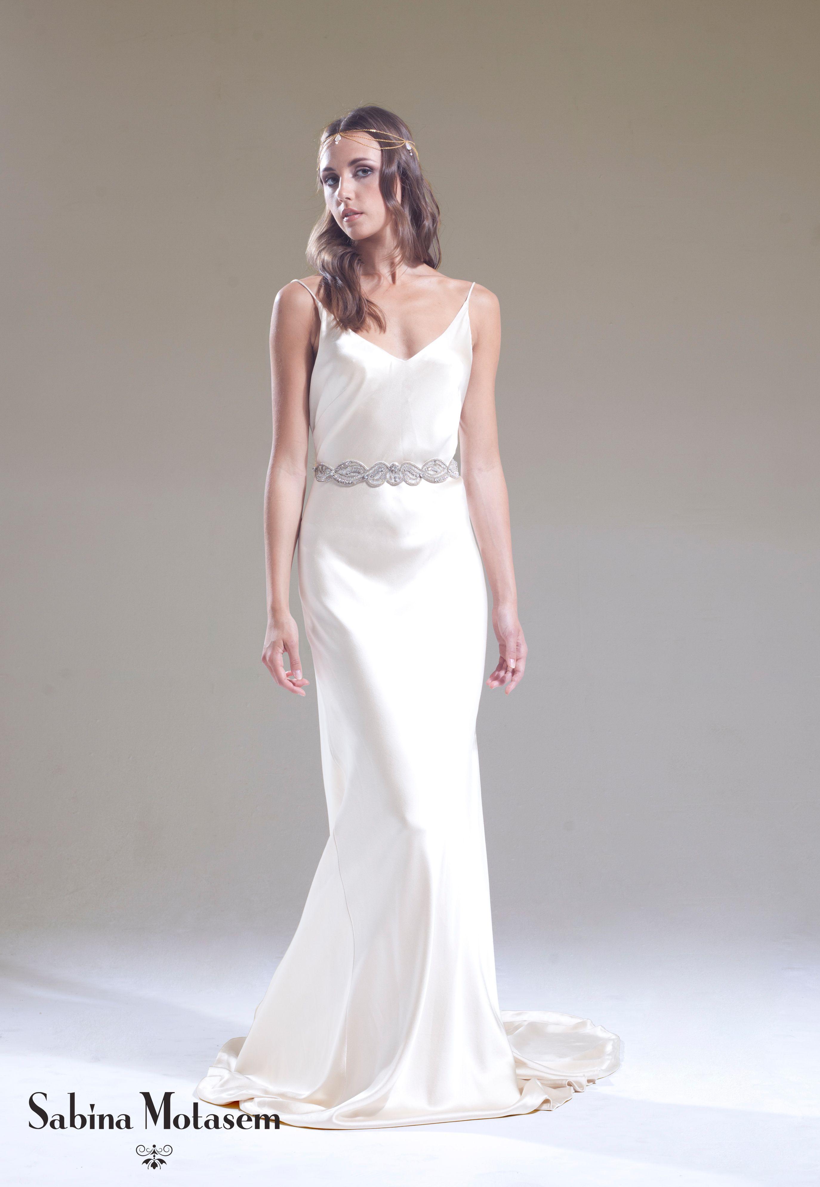 The Elsa dress worn with a beaded art nouveau – Sabina Motasem. A ...