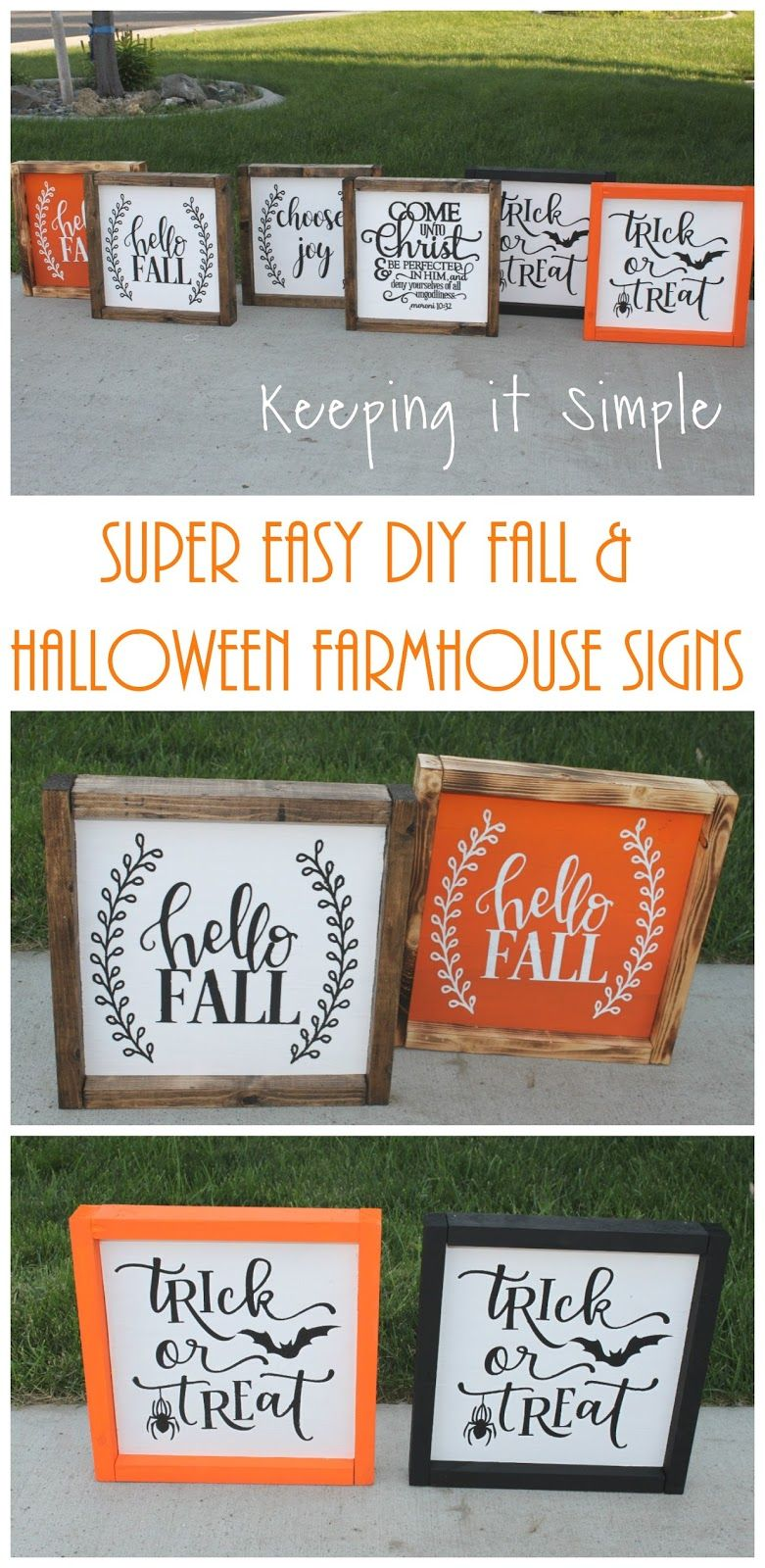 Super Easy Diy Fall And Halloween Farmhouse Signs Keeping