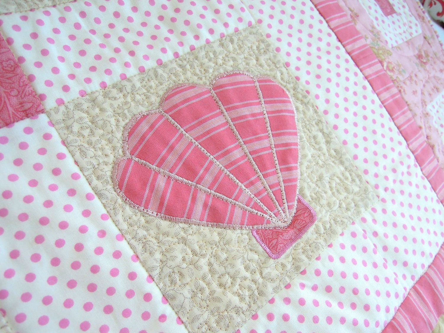 On The Half Shell Sea Shell Quilt Pattern 4 00 Via