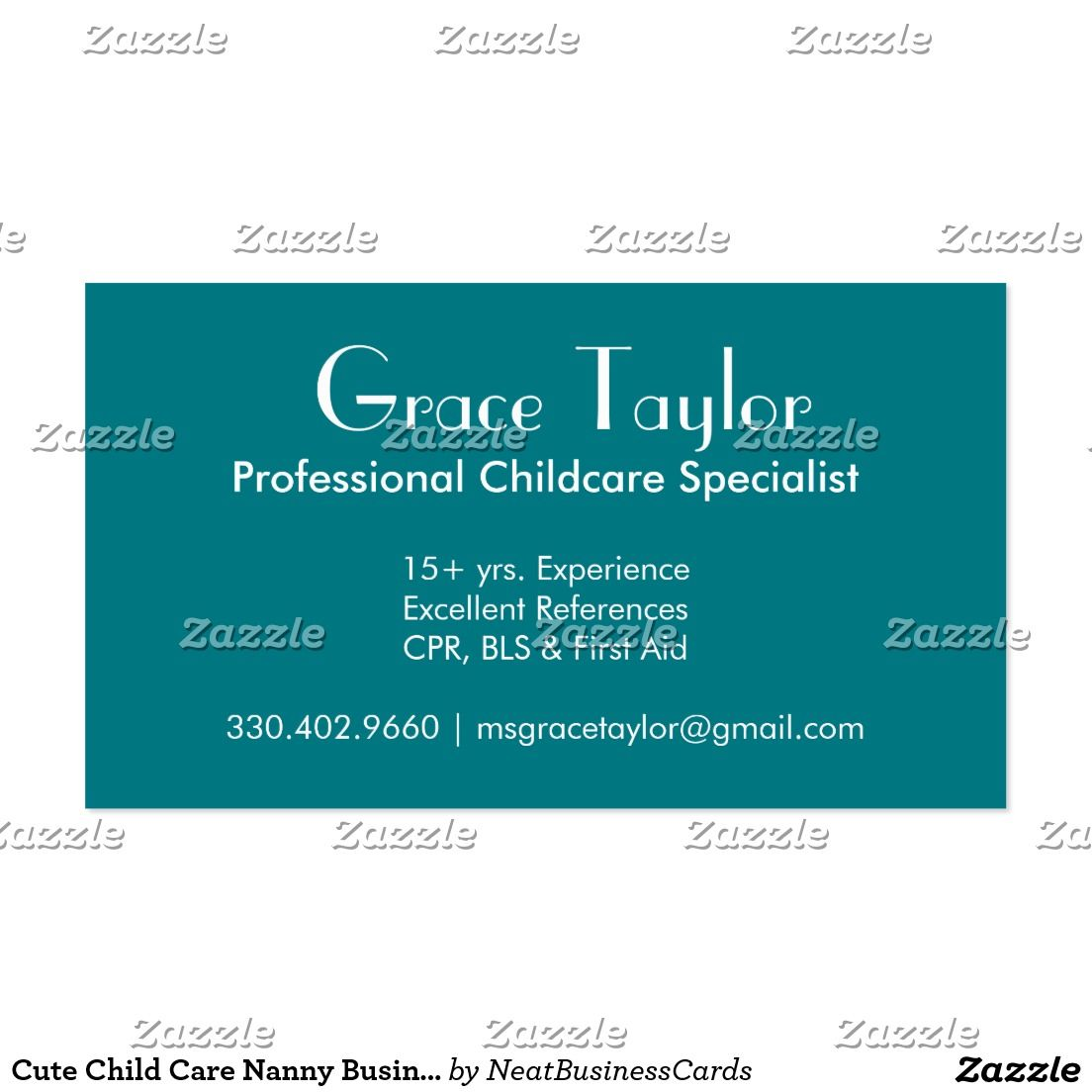 Cute Child Care Nanny Business Cards | Pinterest | Business cards ...