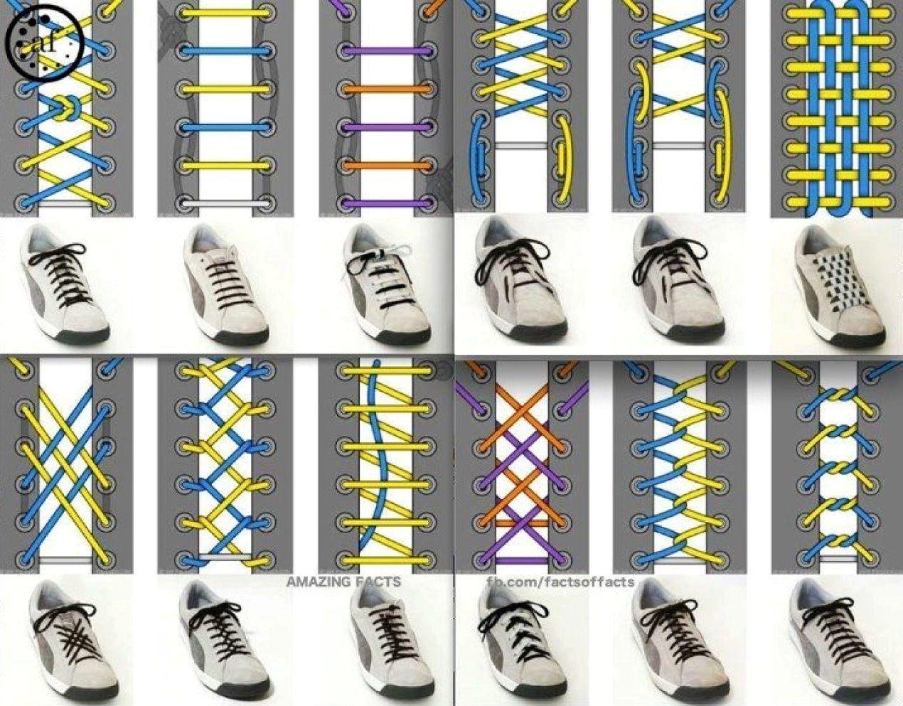 разные способы завязывания шнурков фото схемы постройки моста