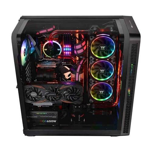 Thermaltake View Eatx Mid Tower Case Black In 2020 Cool