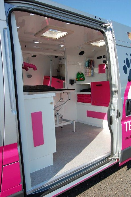 Mobile Salon Van Google Search Mobile Grooming Dog