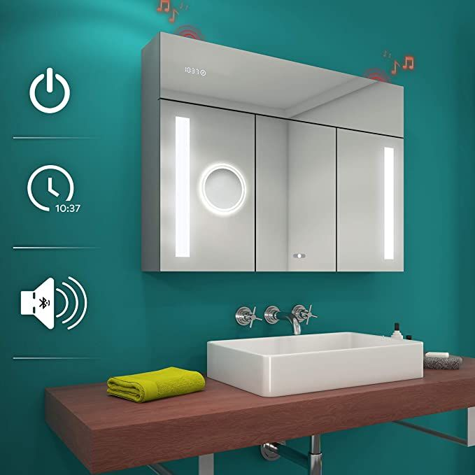 Amazon.com: Artforma Cabinet Illuminated Custom Bathroom ...