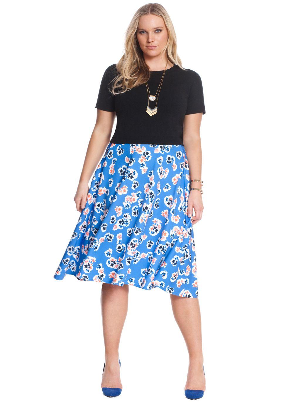 f7e8063af19d8 Floral Print Midi Skirt