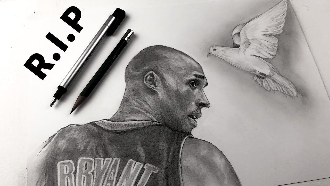 Tribute To Kobe Bryant R I P Drawing Kobe Bryant In 2020 With