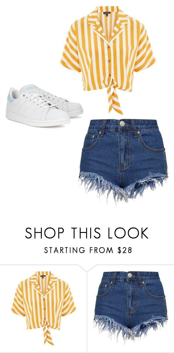 Maillot de bain : « Beach day. » by kacis-kacis on Polyvore featuring Topshop and adidas Originals