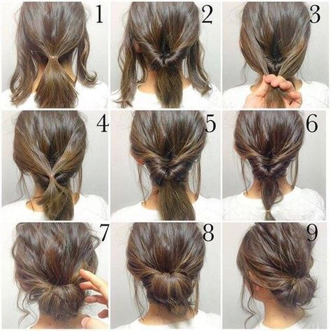 Step By Step Up Do To Create An Easy Hair Style That Looks Lovely But Is Simple To Do Easy Hair Up Dos For Medi Hair Styles Long Hair Styles Short