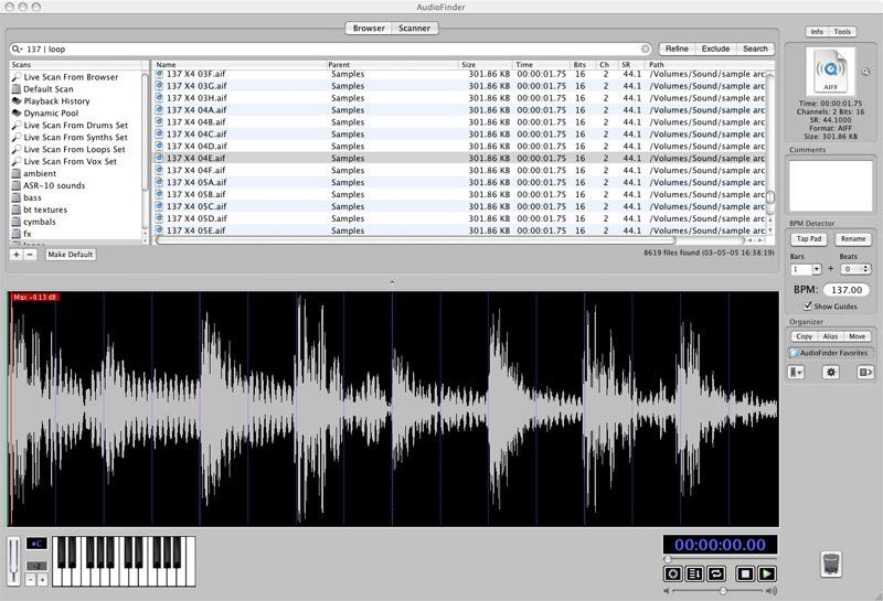 AudioFinder 5.9.14 for Mac 破解版 音频文件管理软件