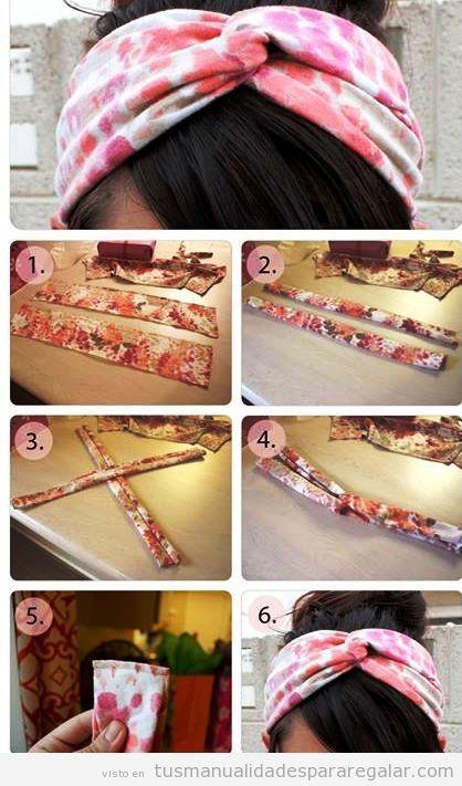 Tutorial para hacer una diadema turbante paso a paso for Diademas de tela para el cabello