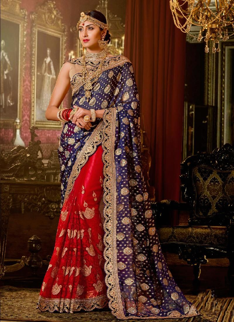 Exotic red classic designer saree red for love pinterest saree
