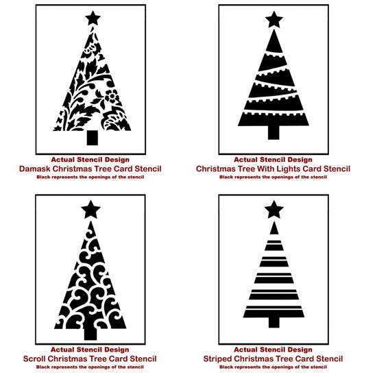 Christmas Tree Stencils: Christmas Tree Card Stencils From Cutting Edge Stencils