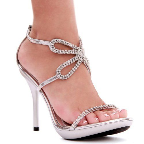 96d80ae40e9c4 4 Inch Rhinestone Butterfly Shoes Strappy High Heel Sandals Womens Sexy  Shoes Size  7 Colors