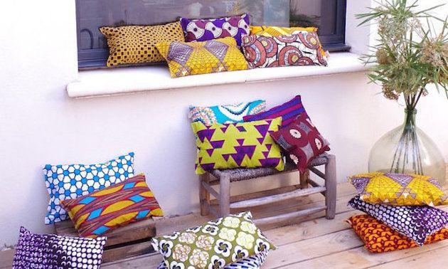 Deco wax le tissu africain colore la maison afrikrea d cor deco decoration africaine et - Canape style africain ...