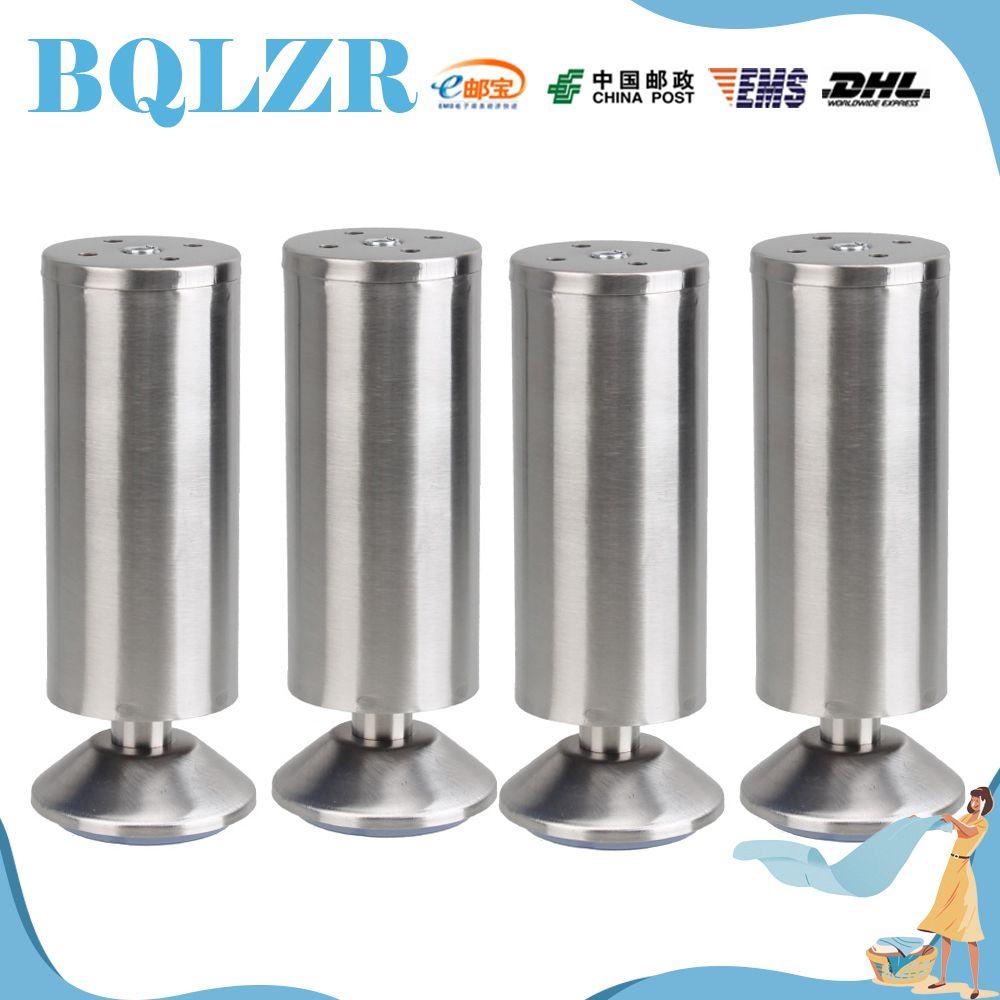 Bqlzr 4 pcs chrome metal feet furniture sofa table cabinet corner legs 5 9 150mm