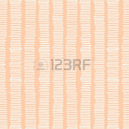 Hand drawn abstract seamless repeat pattern with white lines on pastel pink background  Stock Vector