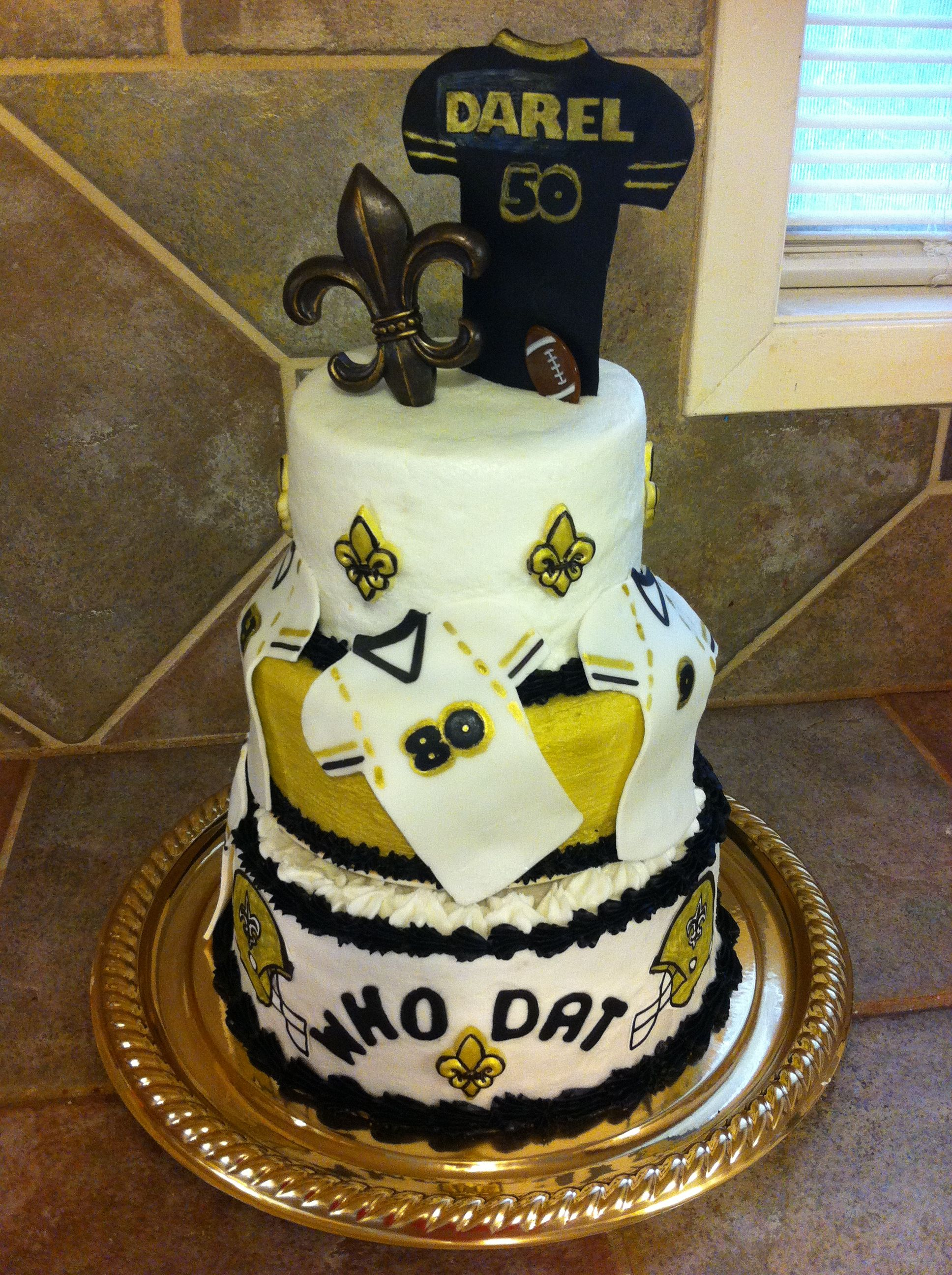 New Orleans Saints 50th Birthday Cake Cakes And Crafts Pinterest