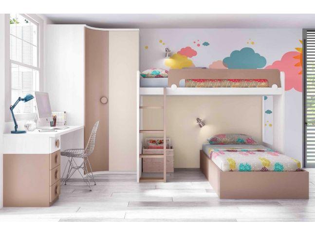 lit superpos s parable avec armoire et bureau personnalisable f265 glicerio lits enfants. Black Bedroom Furniture Sets. Home Design Ideas