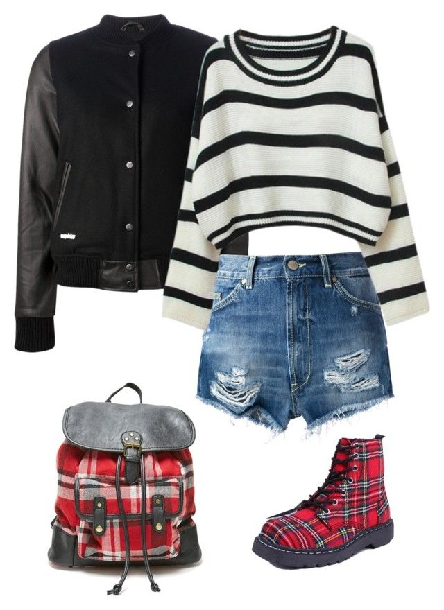 """""""Sans titre #3225"""" by celyana ❤ liked on Polyvore featuring Misbehave, Dondup, LA: Hearts, T.U.K., Chicnova Fashion, women's clothing, women, female, woman and misses"""