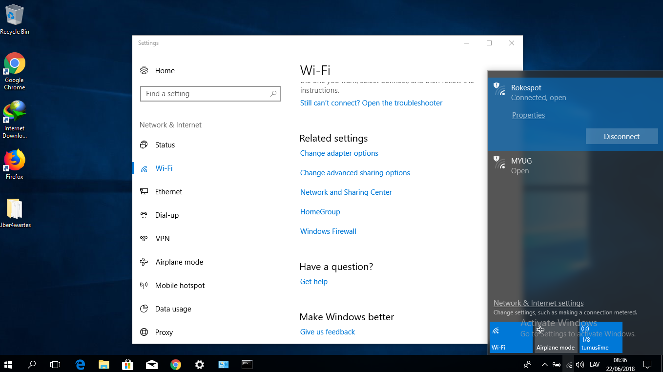 how to change wifi icon in windows 8
