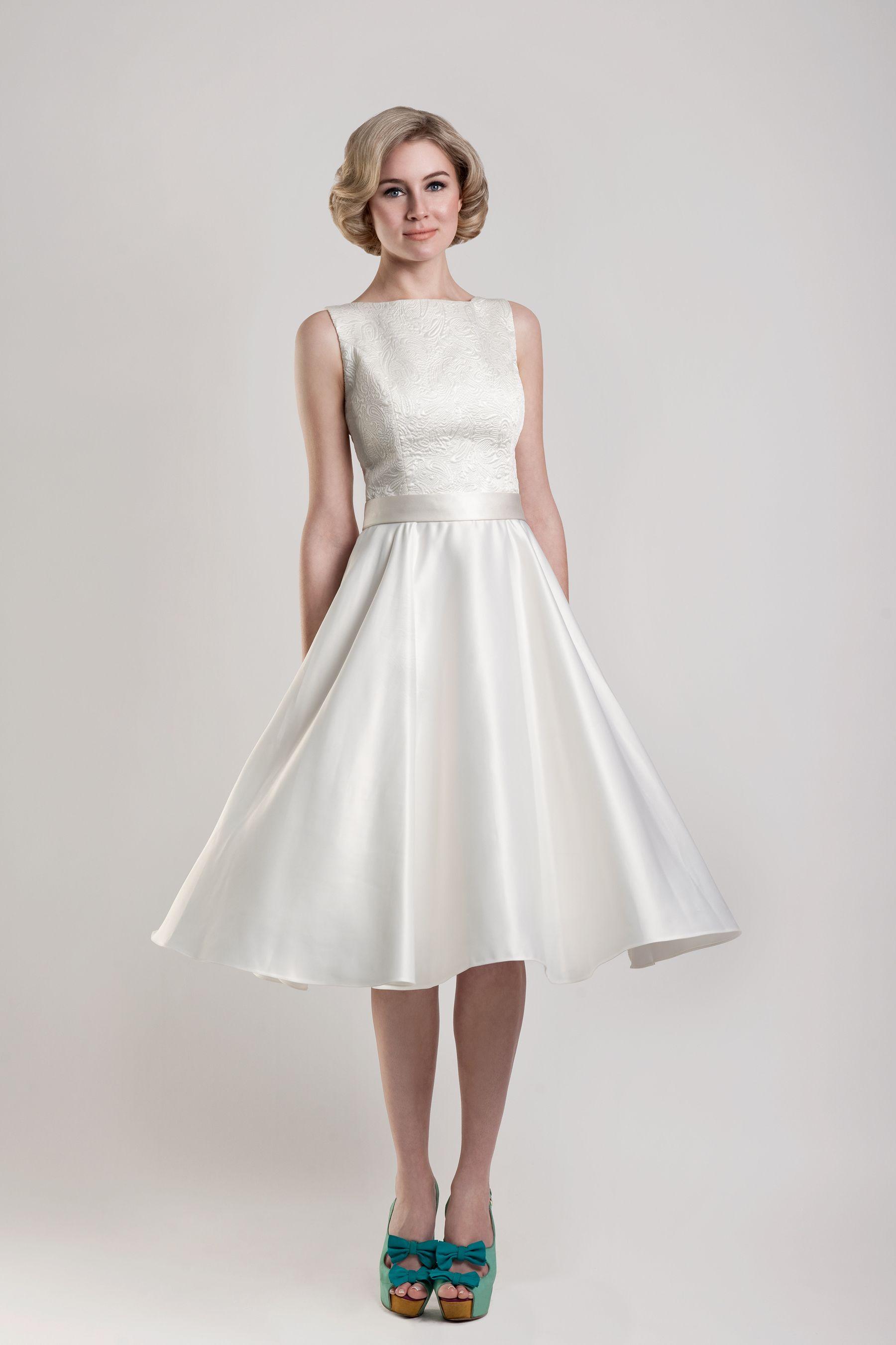 Tea Length Wedding Dresses,Short Wedding Dresses,1950s