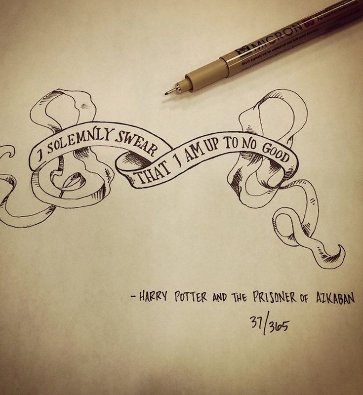 Tattoo Quotes Movies: This Artist Drew One Movie Quote Every Day For A Year
