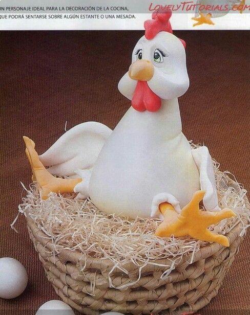 chicken huhn pinterest h hner ostern und knete. Black Bedroom Furniture Sets. Home Design Ideas