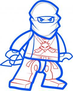 how to draw zane ninjago step 8