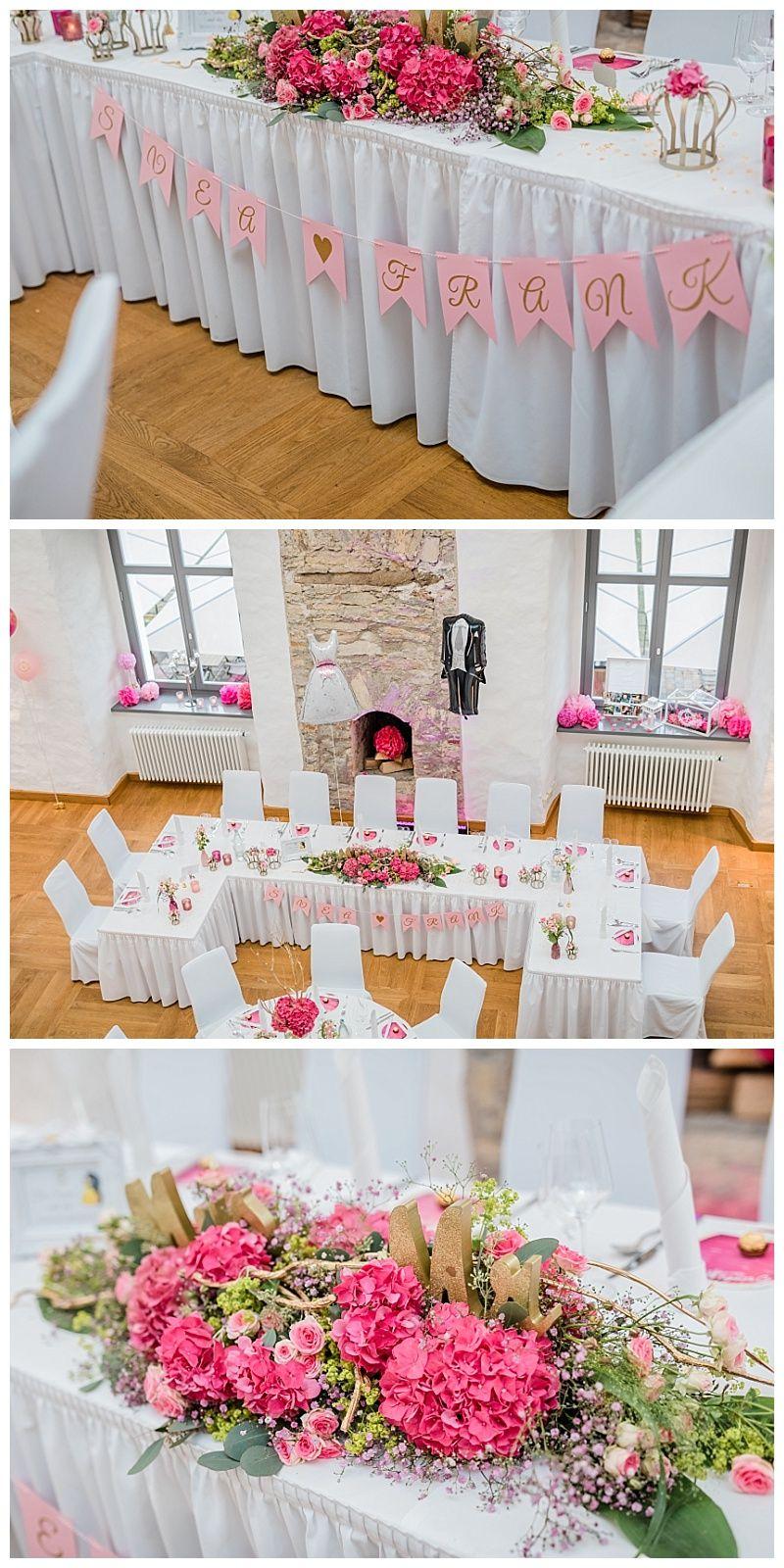 Hochzeit Inspiration Tisch Brautpaar Pink In 2020 Hochzeitstafel Hochzeit Tischdeko Hochzeit