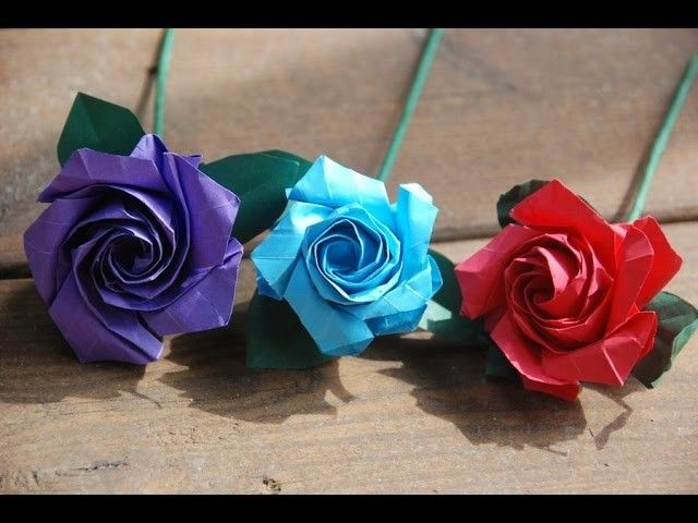 How To Make A Origami Paper Rose Simple Diy Easy Origami Rose