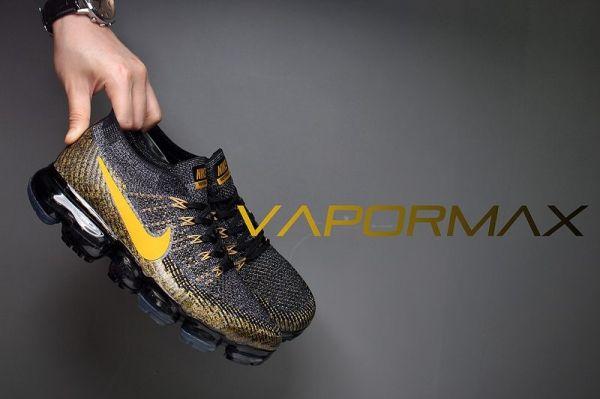 Nike Max Air 2018 Hombres Vapormax Flyknit Oro Negro Mujeres Hombres 2018 Zapatos 920800